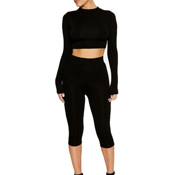 Feelin' Oh So Tight Crop Set - Sets - Womens