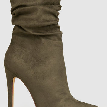 Pointy Toe Slouchy Booties