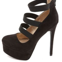 Elastic-Strappy Platform Pumps by Charlotte Russe