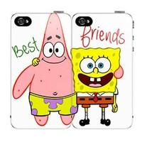 $5.00 OFF Until NEW YEAR'S DAY Best Friends SET (2) Spongebob and Patrick iPhone 5 5s Hard Back Plastic Protective Case Cover