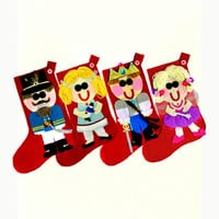 Set of Four Customized Nutcracker Series Christmas Stockings