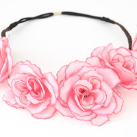 Floral Headband - Pink
