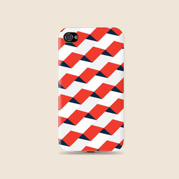 Red n Blue Motif Cool pattern Plastic Hard Case - iphone 5 - iphone 4 - iphone 4s - Samsung S3 - Samsung S4 - Samsung Note 2