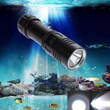 5000LM XM-L2 LED Scuba Diving Flashlight Ajustable Light Torch Underwater 100m Waterproof  Diving Lamb Light NG4S