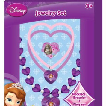 Sofa the First Disney Princess 4 Piece Boxed Jewelry Gift Set with ADORABLE Necklace Bracelets & Ring