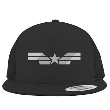 Captain America Winter Soldier Embroidered Trucker Hat
