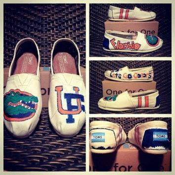 DCCK1IN university of florida custom toms vans keds or converse