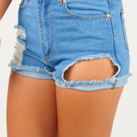 Forever In Blue Jeans Shorts: Denim