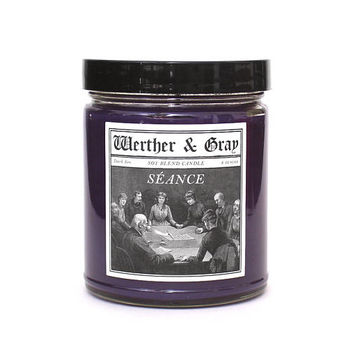 SÉANCE, Scented Candle, Spiritualism, Sage Fragrance, Amber, Smoke, Victorian History, Gothic Candle, Paranormal, Supernatural, Horror