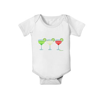 Margaritas - Mexican Flag Colors - Cinco de Mayo Baby Romper Bodysuit by TooLoud