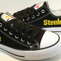 Pittsburgh Steelers Men Canvas Shoes