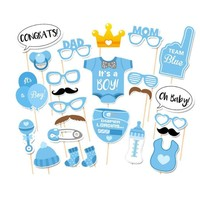 Cute photo booth props diy kits for BABY BOY baby shower