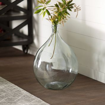 European Recycled Glass Bistro Glass Vase