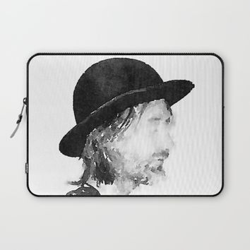 Thom Yorke Watercolor portrait by MrNobody Laptop Sleeve by Mrnobody