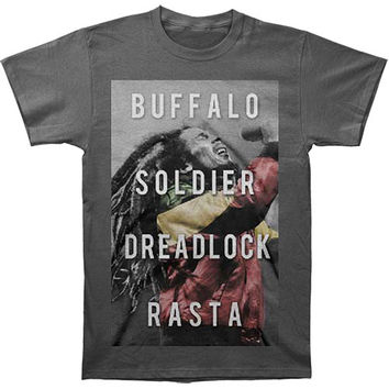 Bob Marley Men's  Dreadlock Rasta T-shirt Grey