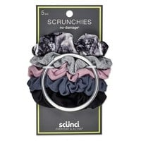 Scunci Everyday & Active No Damage Scrunchies With Keeper - 5pk