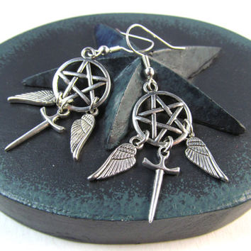 Angel. Hunter. Supernatural Inspired Earrings!