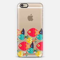 geo fish transparent iPhone 6 case by Sharon Turner | Casetify