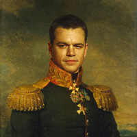 Matt Damon - replaceface Art Print by Replaceface