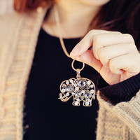 Sparkling Crystal Elephant  Necklace from FUNKISS