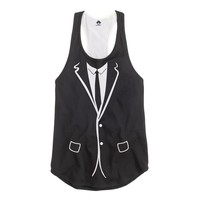 Suit and Tie Racerback Tank Top