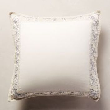 Embroidered Hilvi Euro Sham in Neutral Euro Sham Size Bedding by Anthropologie