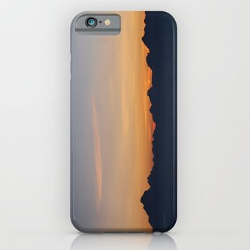 Mountain Range Silhouette iPhone & iPod Case by Mixed Imagery