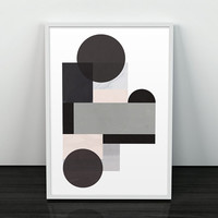 Home decor, Abstract print, Geometric art, Watercolor abstract, Black and white art, Wall prints, Minimalist art, Scandinavian print, Prints