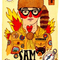 Moonrise Kingdom SAM Art Print by Ricardo Cavolo | Society6