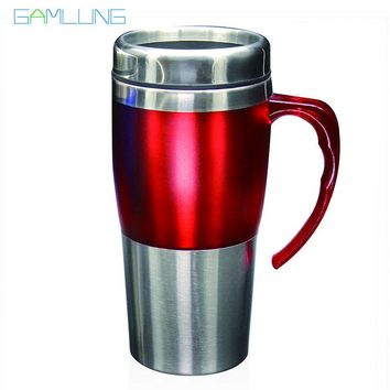 Gamlung Brand Stainless Steel Coffee Mug High Quality 16oz Travel Tea Cup With Lid 2017