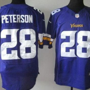 DCCK8X2 Nike Vikings #28 Adrian Peterson 2013 New Style Purple Team Color Mens NFL Elite Jerse