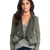 Collapsing Twill Jacket in Military