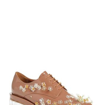 Simone Rocha Embellished Lace-Up Oxford (Women) | Nordstrom