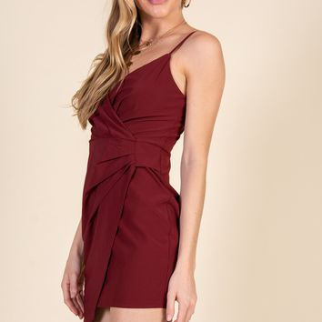Young And In Love Dress-Burgundy