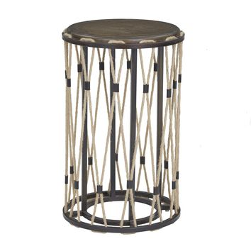 Nelly Transitional Chairside Table Skinny Latte