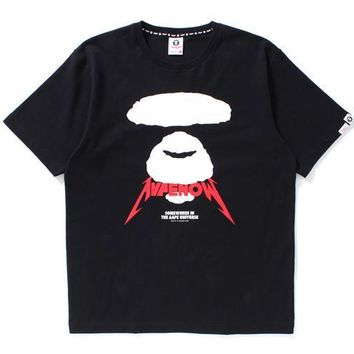 Cotton Casual Strong Character Short Sleeve T-shirts [429904101412]