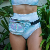 3-Pocket Holographic Fanny Pack