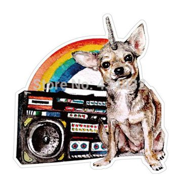 ac NOOW2 Min.order is $10(mix order)Sound Rainbow Chihuahua waterproof suitcase stickers luggage stickers tide brand stickers[single]
