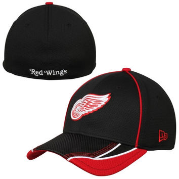 Detroit Red Wings New Era Viza Frame 39THIRTY Flex Hat - Black