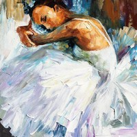 BALLERINA 2 — Palette knife Oil Painting on Canvas by Leonid Afremov - Size 16x20. 10% discount coupon - deviantart10off