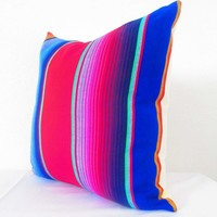 Mexican pillow covers 20 x 20 Inch Aztec Throws Serape - Available in 3 colors!