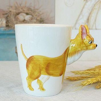 Ceramic Mug 3D Animal Shape Hand Painted