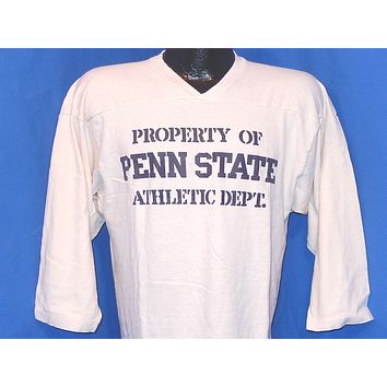 80s Property of Penn State Athletic Department Jersey Style t-shirt Medium