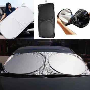 High Quality Folding Jumbo Front Rear Car Window Sun Shade Car Windshield Visor Cover Block Sunshade Cover