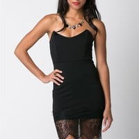 Lingerie Trim Strapless Dress (more colors)