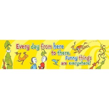 DR SEUSS ONE FISH TWO FISH BANNER