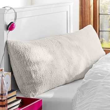Faux Fur Sherpa Body Pillow Cover from PBteen Custom Faux Fur Body Pillow Cover