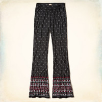 Printed Knit Flare Pants