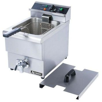 Commercial Kitchen Countertop Electric Single Tank Deep Fryer 6L with Faucet