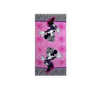 Disney Diva Minnie Bath Towel Pink/Black